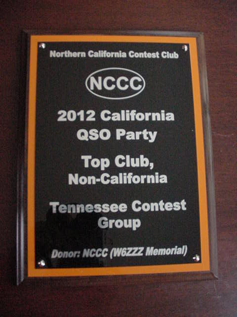 TCG wins Cal QSO Party 2012